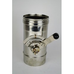 Rökrör/Kaminrör L: 250mm med avstängningsventil Ø140mm.