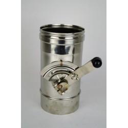 Rökrör/Kaminrör L: 333mm med avstängningsventil Ø180mm.