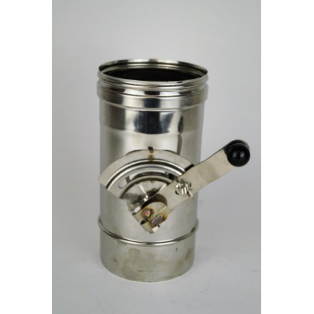 Enkelväggig rökkanal, L: 333mm med en Ø180 avstängningsdämpare