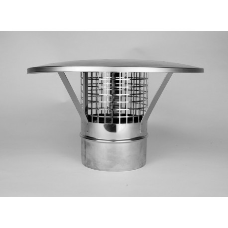 Regnhuv Ø180mm med gnistgaller