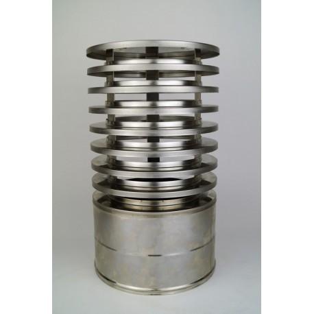 Regnhuv med vindskydd (isolerad), Ø200-250mm