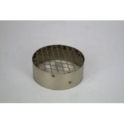 Suggaller i rostfritt stål för pelletskaminer, Ø100mm.