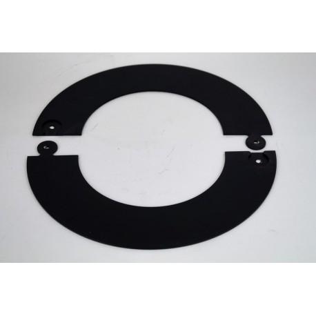 Täckring i svart stål Ø130mm (delbar)