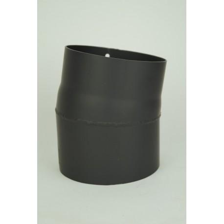 Kaminrörsböj i tjockväggigt svart stål 10°, Ø140mm