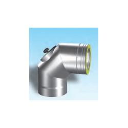 Rökrörsböj 90° med inspektionslucka, diameter Ø80/130