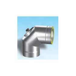Skorstensrörböj 90° med inspektionslucka, Ø300-350mm