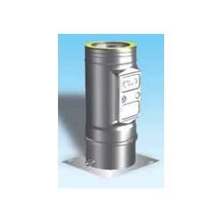 Skorstensrör med inspektionslucka och kondensavlopp, Ø80-130mm.