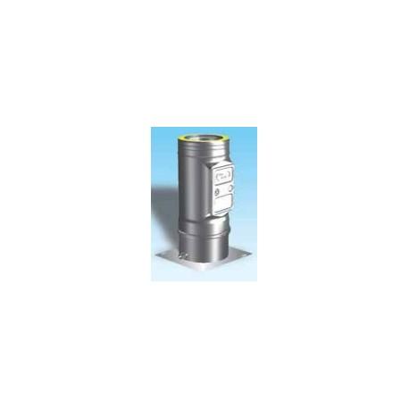 Skorstensrör med inspektionslucka och kondensavlopp, Ø100-150mm