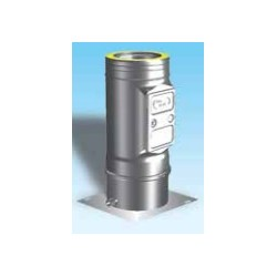 Skorstensrör med inspektionslucka och kondensavlopp, Ø130-180mm.