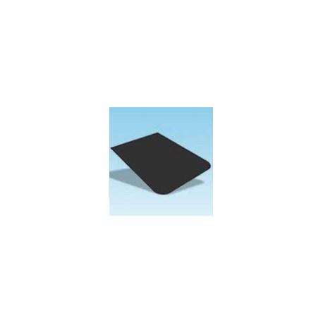 Vloerplaat 800x1000mm, rechthoekig met afgeronde hoeken, zwart staal