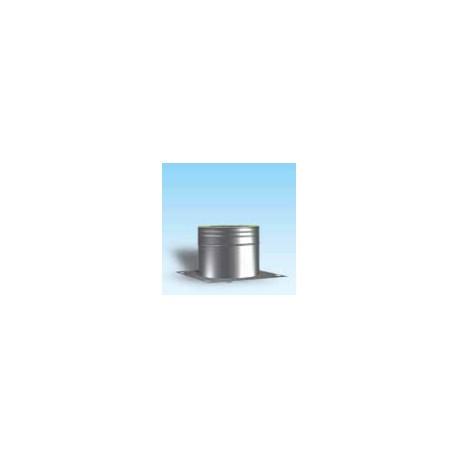Anslutningsrör med genomföringsstöd/kondensavtapp diameter Ø150/200