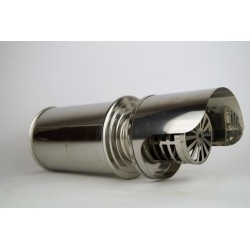 Väggterminal för pelletskaminer Ø80mm, L: 250mm, lyxversion.