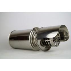 Väggterminal för pelletskamin Ø100mm, L: 250mm, lyxversion.