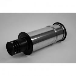 Väggterminal för pelletskamin Ø100mm, L: 350-550mm.