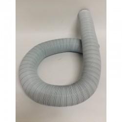 Aluminium buis wit 130mm (3 meter)