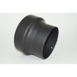 Kachelpijp dikwandig staal, verloopstuk 180mm - 200mm