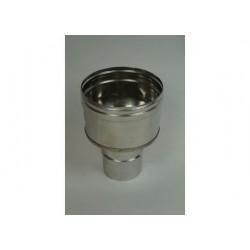 Oisolerad övergång Ø150mm - Ø160mm (hane-hona).