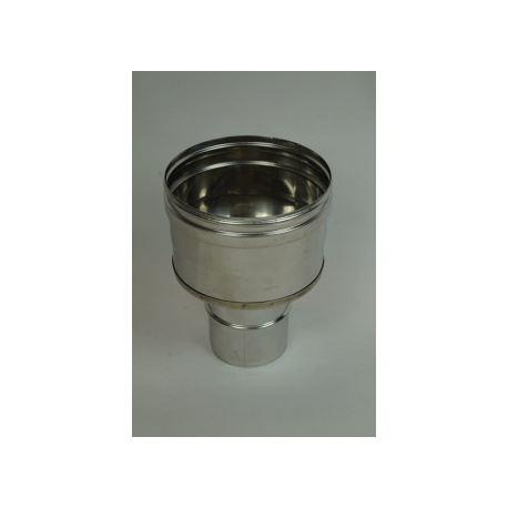 Enkelisolerad övergång Ø150mm - Ø160mm (hane-hona)