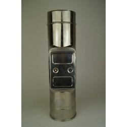 Skorstensrör med inspektionslucka, Ø120-170mm. L: 300mm.