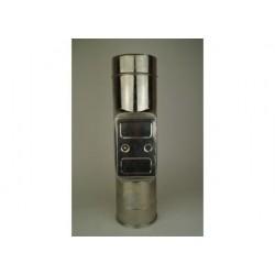 Skorstensrör med inspektionslucka, Ø140-190mm, L: 333mm.