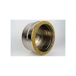 Dubbelväggsrör lock, kondensavlopp, diameter Ø160-210.