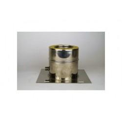 Dubbelväggsrör, platta med kondensavlopp, diameter Ø160-210.