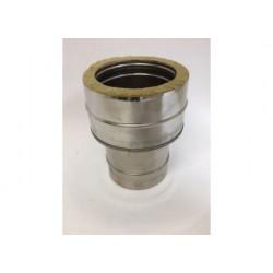 Övergång/Anslutningsstycke (hane), Ø160mm oisolerad - Ø210mm isolerad.