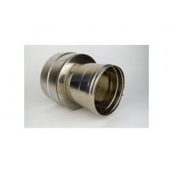 Dubbelväggsrör, anslutningsstycke dubbelväggigt - enkelväggigt, diameter Ø160/210 Hona