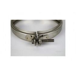 Dubbelväggigt stålrör, spännband, Ø160/210.