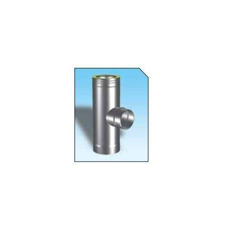 T-stycke 90°, Ø160-210mm enkelisolerat sidoutlopp Ø100mm