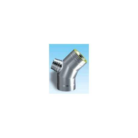 Dubbelväggig modulskorsten böj 45° Ø80/130, med inspektionslock