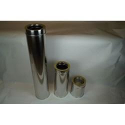 Skorstensrör, Ø100-150, L: 1000mm.