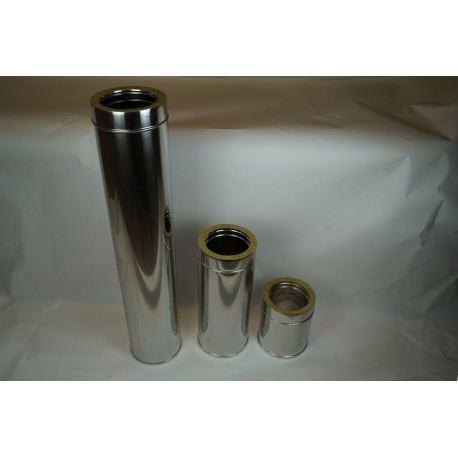 Skorstensrör, Ø100-150, L: 1000mm