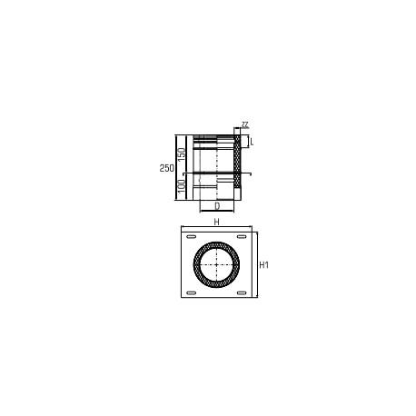 Toppanslutning Ø150-200mm