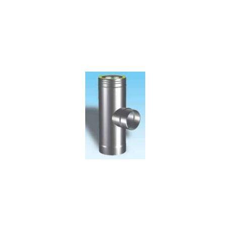 T-stycke 90° Ø150-200mm med enkelisolerat sidoutlopp Ø150mm