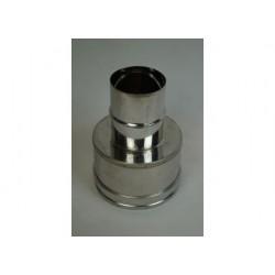 Oisolerad övergång Ø150mm - Ø180mm (hane -hona).