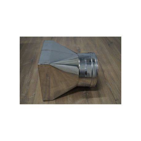 Rökrörsadapter kvadratisk 199-199mm - Cirkulär Ø180mm