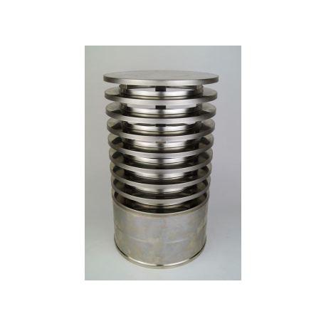Regnhuv med vindskydd (isolerad), Ø180-230mm.
