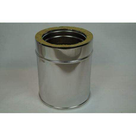 Skorstensrör, Ø80-130, L: 250mm