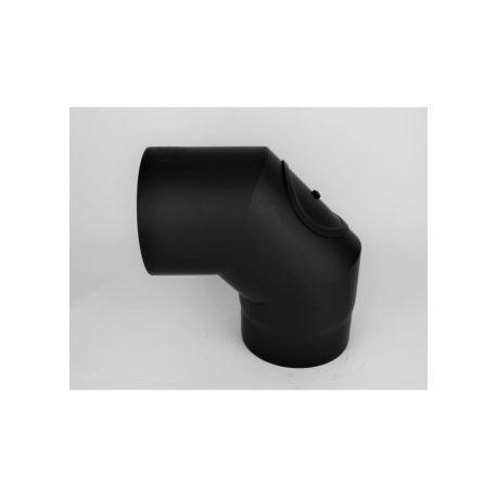 Rökrörsböj 90° med inspektionslucka, Ø160mm, 3-segment.