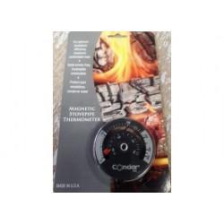 Magnetisk termometer för kaminrör