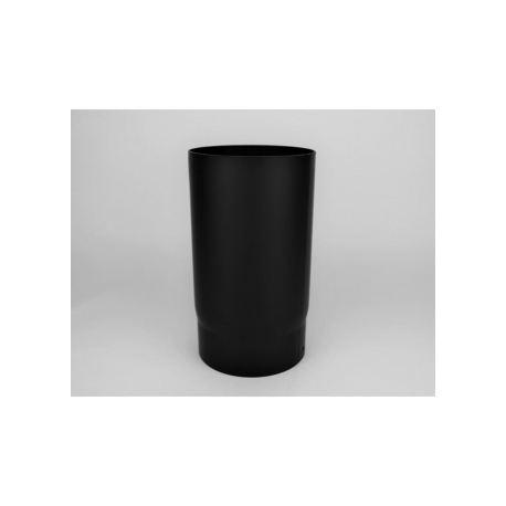 Kaminrör i tjockväggigt svart stål, Ø130, L: 333mm