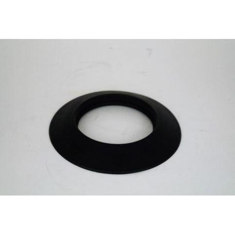 Rosett i svart silikon, Ø130.