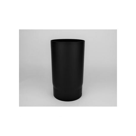 Kaminrör i tjockväggigt svart stål, Ø140, L: 333mm