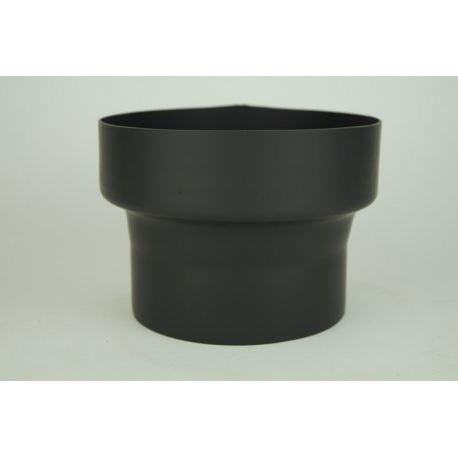 Övergång i tjockväggigt svart stål Ø100-130mm