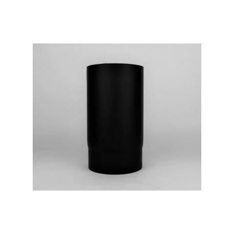 Kaminrör i tjockväggigt svart stål 2mm, Ø180, L: 150MM