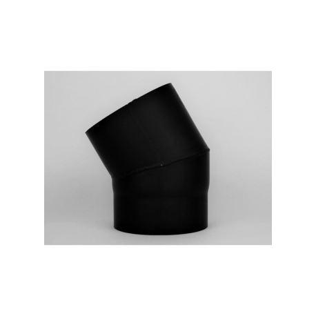 Kaminrörsböj 10° i tjockväggigt svart stål, Ø200mm.