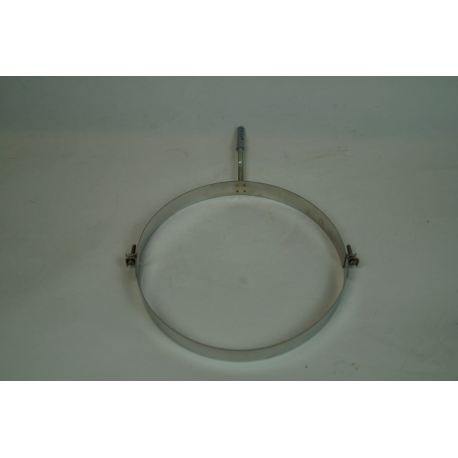 Väggfäste i rostfritt stål, Ø250mm med gängstång.