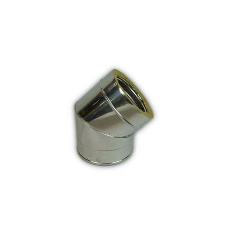 Skorstensböj, 45°, Ø300-350mm.