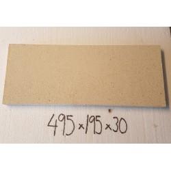 Eldfast platta 495x195x30mm.